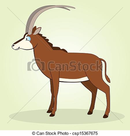 Vectors Illustration of Sable Antelope.