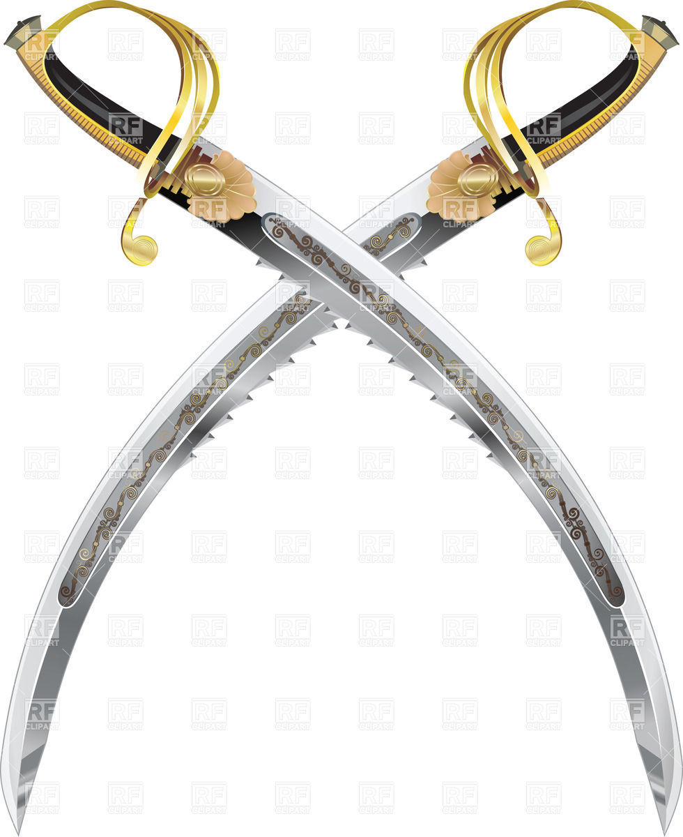 Two crossed pirate sabres Vector Image #25189.