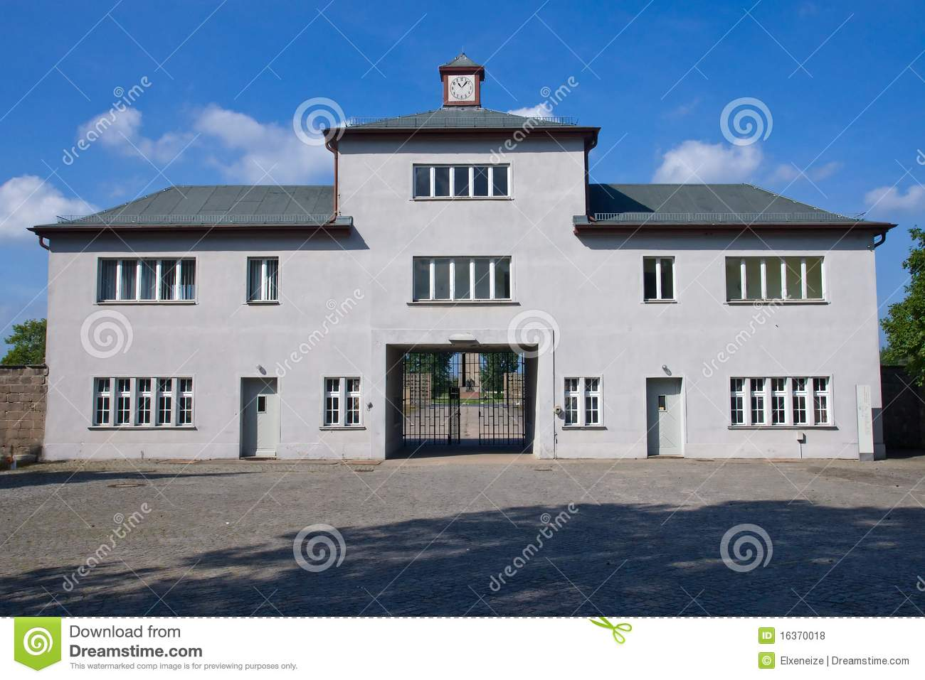 Entrance To Sachsenhausen Concentration Camp Editorial Stock Photo.
