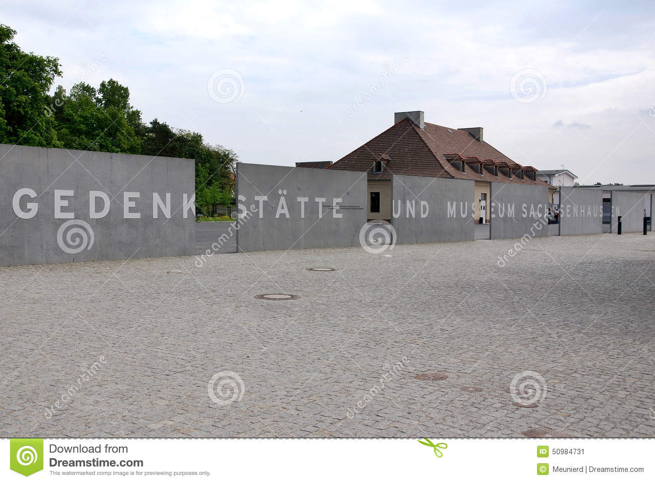 Sachsenhausen Camp Memorial Museum Editorial Photo.
