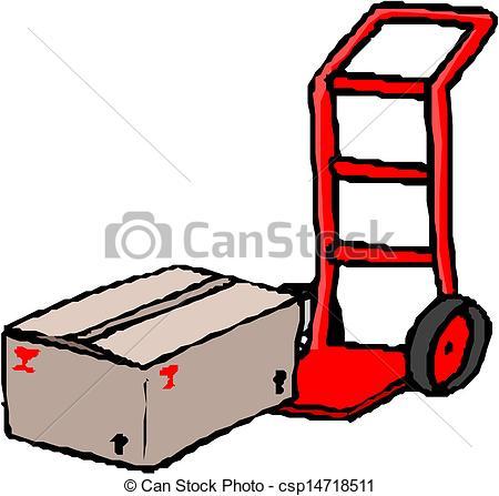 Sack truck Vector Clip Art EPS Images. 17 Sack truck clipart.
