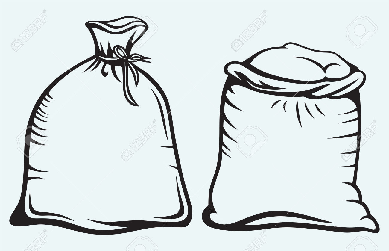 Rice sack clipart.