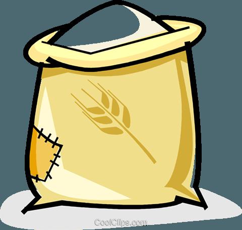 sack of flour Royalty Free Vector Clip Art illustration.