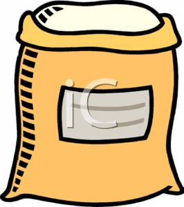 Clipart Image: A Sack of Flour.