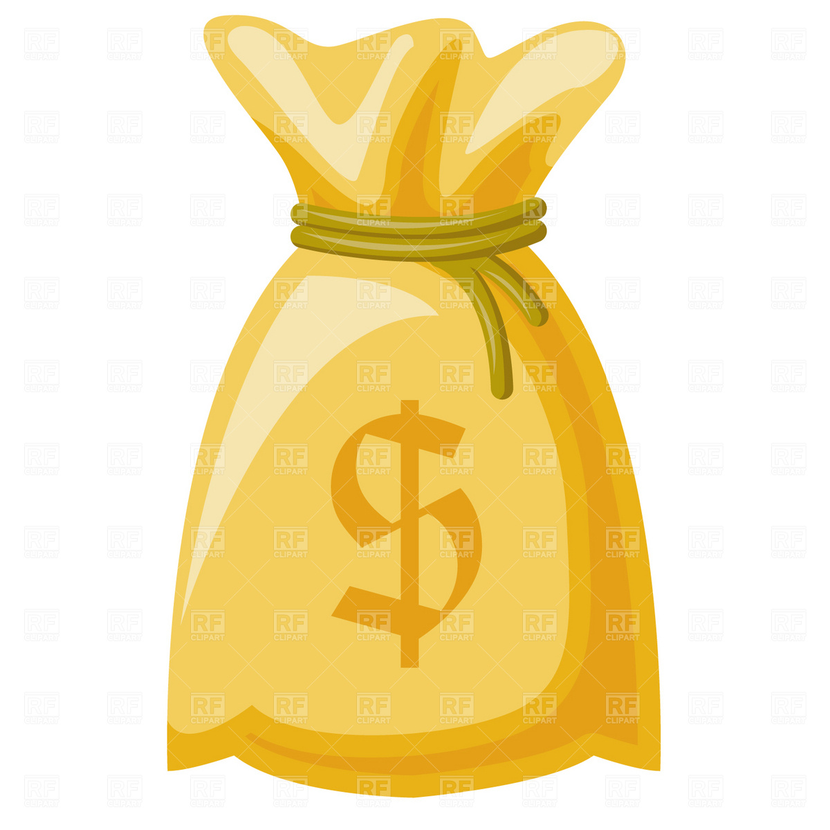 Money sack with currency sign and coins Vector Image #7002.