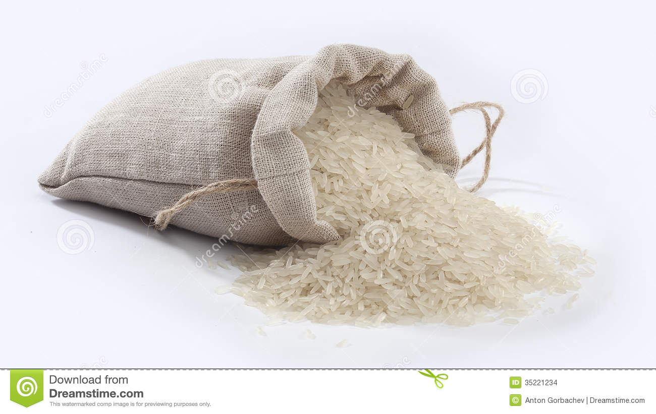 Sacking With Rice Stock Images.