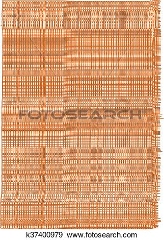 Clip Art of Brown texture of sacking k37400979.