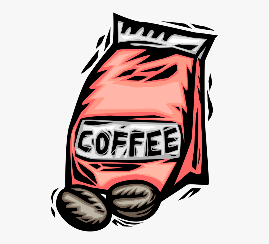 Vector Illustration Of Bag Of Coffee Bean Seed Of The.