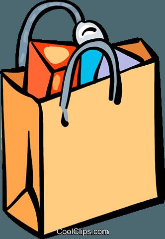 Sacolas livre de direitos Vetores Clip Art ilustração.