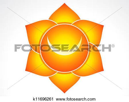 Clipart of Kundalni sacral chakra k11696261.
