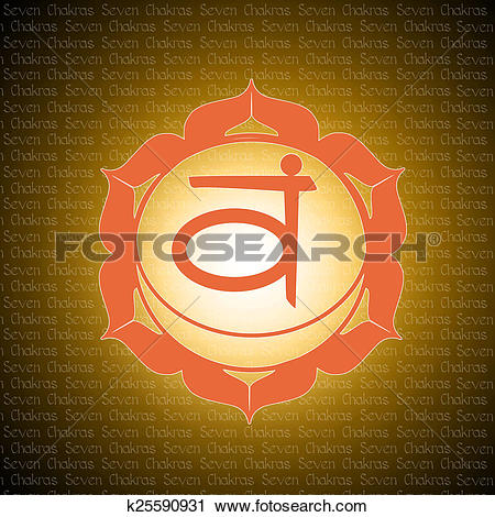 Clipart of sacral chakra k25590931.
