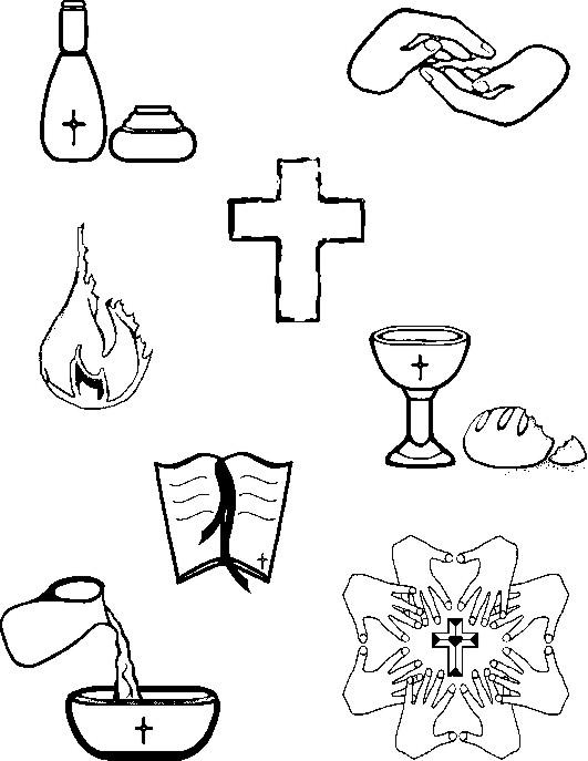 Seven Sacrament Clipart.