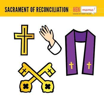 Sacrament of Reconciliation/Confession Clip Art.