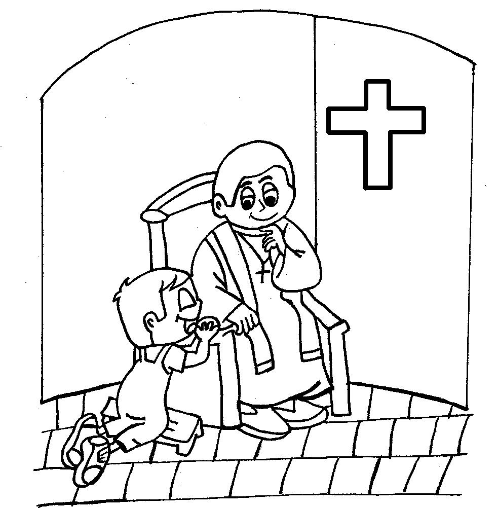 12 Images of Catholic Reconciliation Coloring Pages.