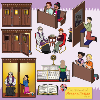 Sacrament of Reconciliation Catholic Clip Art.