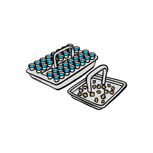 Sacrament Trays Clipart.