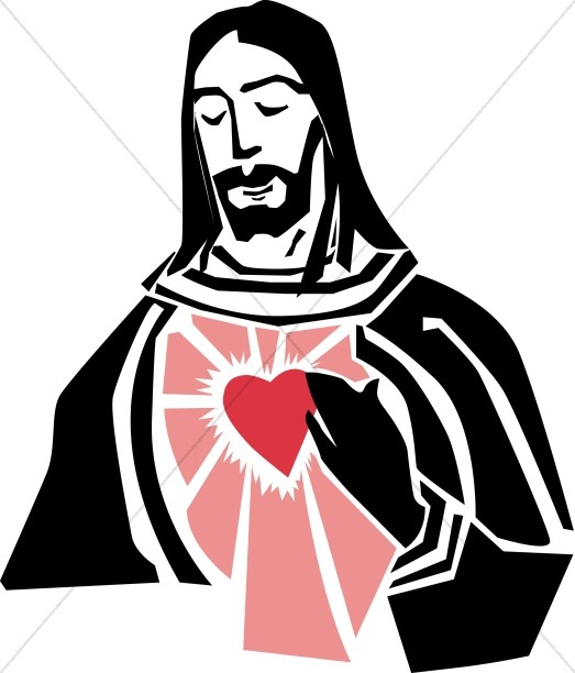 Jesus and the Sacred Heart Graphic.