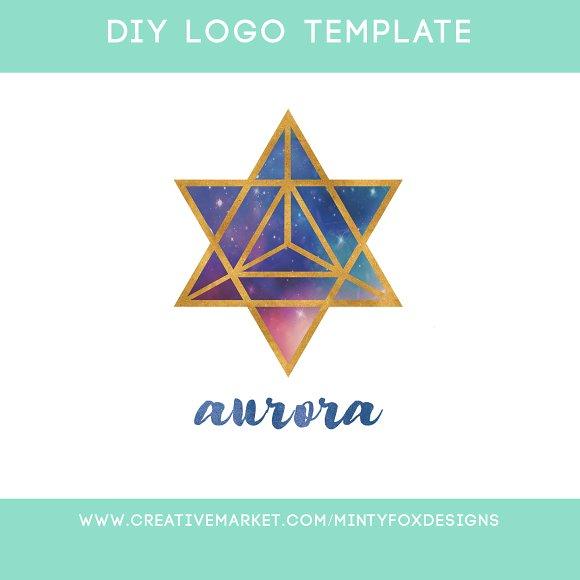 Sacred Geometry Logo Template.