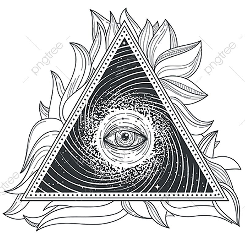 Vector Tattoo Illustration Abstract Sacred Geometry With An.