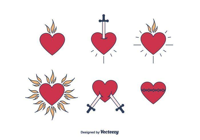 Sacred Heart Vector.