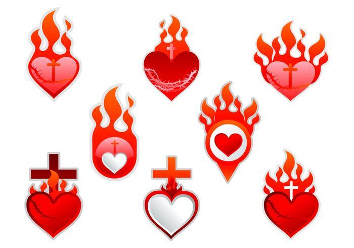 Sacred Heart label sticker.
