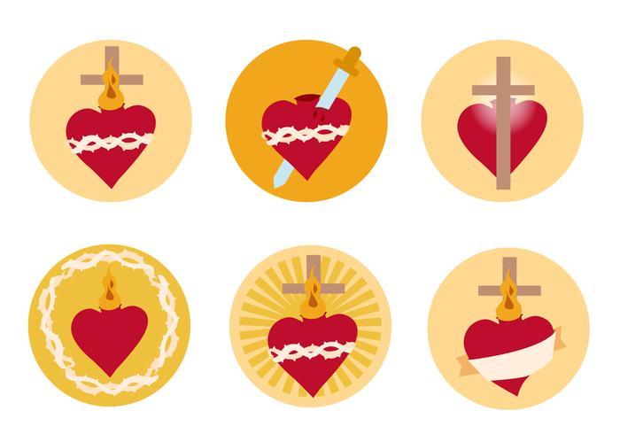 Sacred Heart Free Vector.
