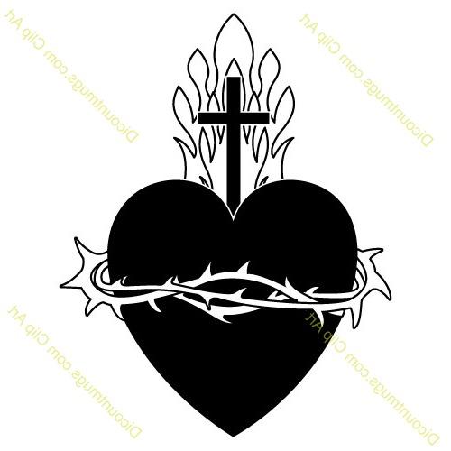 Jesus sacred heart clipart.