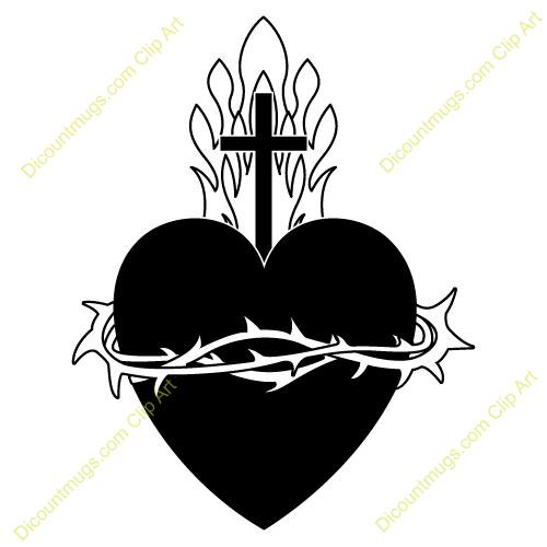 Sacred Heart Religious Clipart.