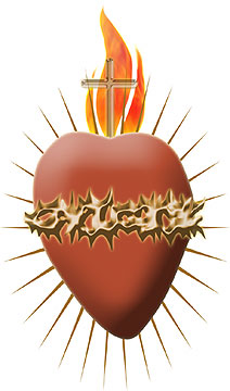 Sacred heart of jesus clipart.