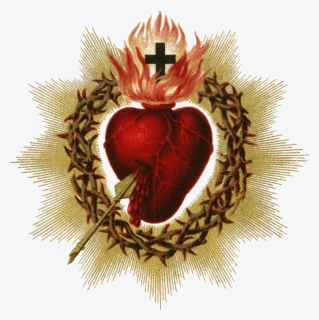 Free Sacred Heart Clip Art with No Background.