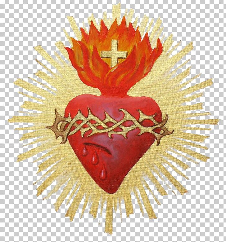 Sacred Heart Symbol Immaculate Heart Of Mary Mysticism PNG.