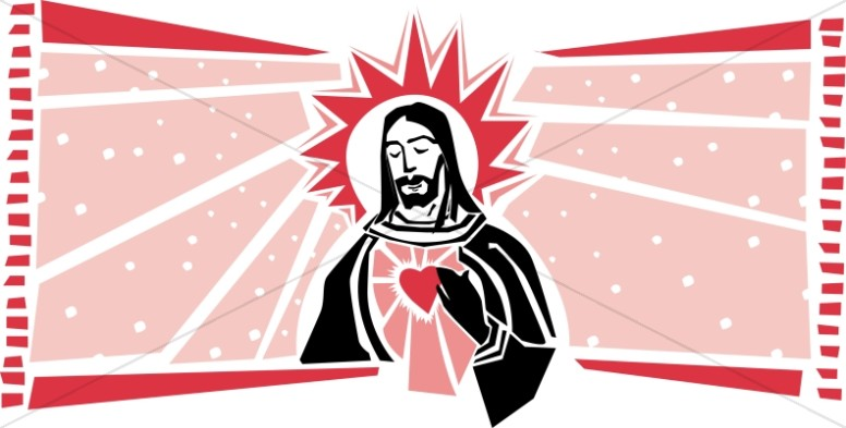 Jesus and the Sacred Heart.