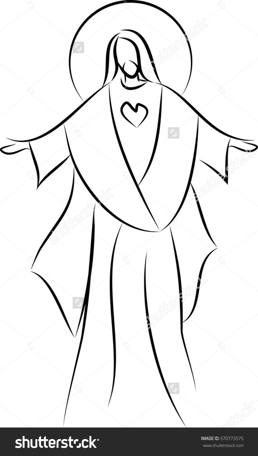 Clipart sacred heart of jesus.