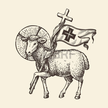 Sacrificial Lamb Clipart.
