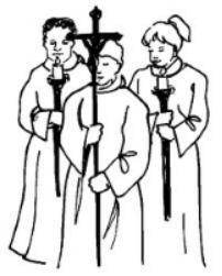 Church Procession Cliparts.