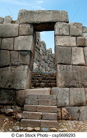 Stock Photos of Ancient stone sun gates in Sacsayhuaman.