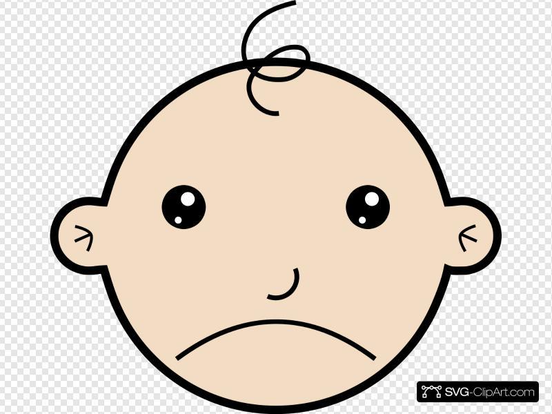 Sad Baby Clip art, Icon and SVG.