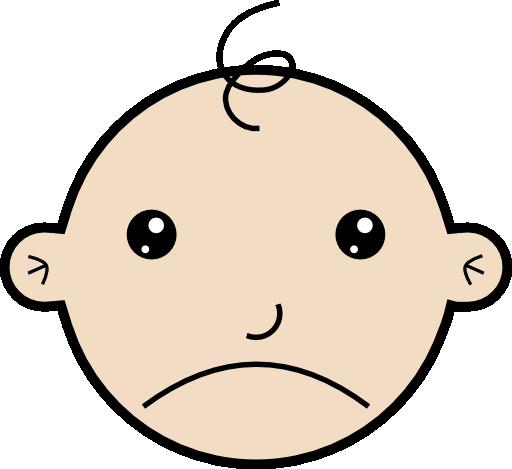 Sad Baby Clipart.