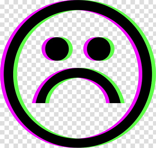 Glitch A of s, sad face icon transparent background PNG.