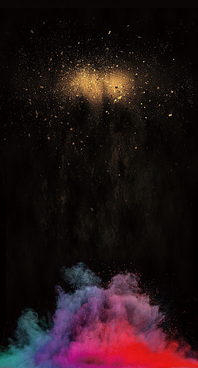 Color Smoke Background, Smoke, Scrap, Black Background Image.