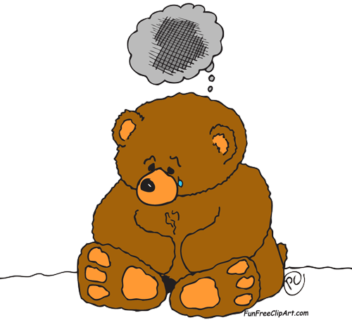 Sad cartoon bear clipart images gallery for free download.