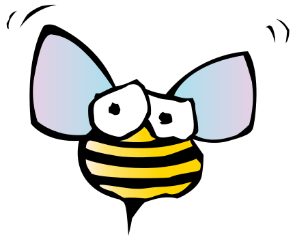 Sad bee clipart.