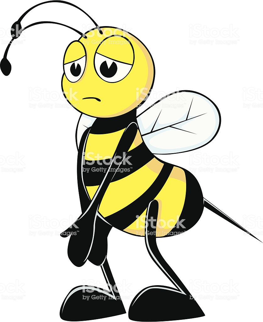 Bumblebee clipart sad.
