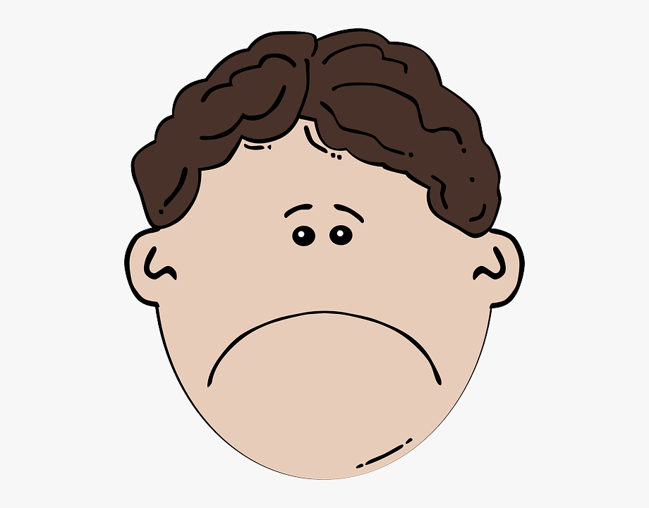 Depressed Face Cliparts.