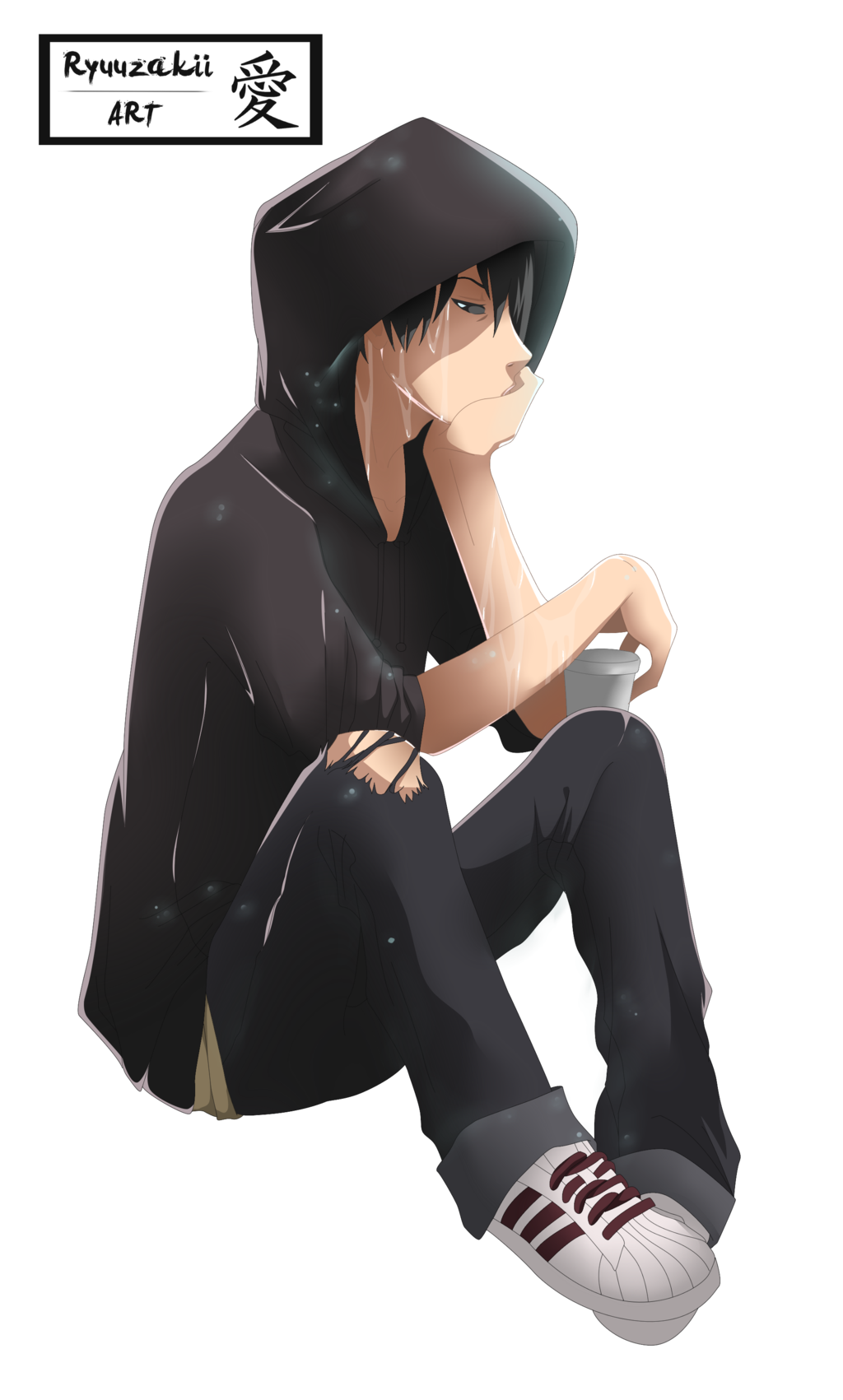 Sad Boy PNG File.