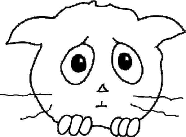 Cat Sad clip art (119086) Free SVG Download / 4 Vector.