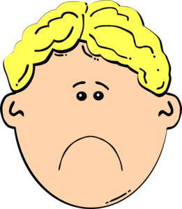 Sad Kids Clipart.