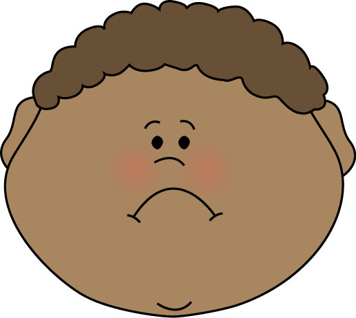 Boy Sad Face Clipart.