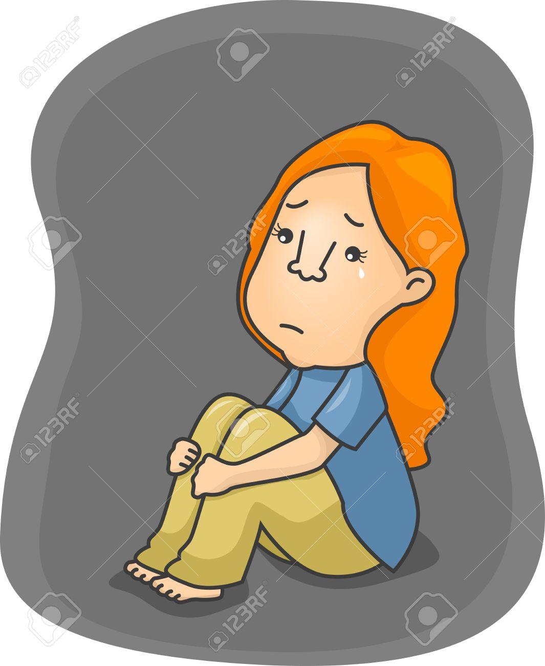Sad Girl Woman Tears Clipart.