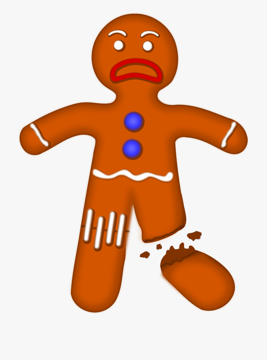 Gingerbread Clipart Sad.